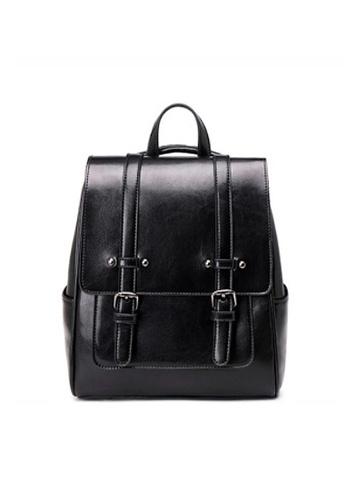 Twenty Eight Shoes black VANSA Vintage Burnished Cow Leather Backpacks VBW-Bp3322 9BFB4AC9C3CB56GS_1