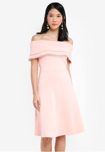 4ed1fad623ad Shop ZALORA Off Shoulder Midi Dress Online on ZALORA Philippines