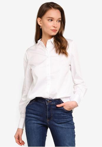 REUX white Ellen Shirt 71D9AAACA786E3GS_1