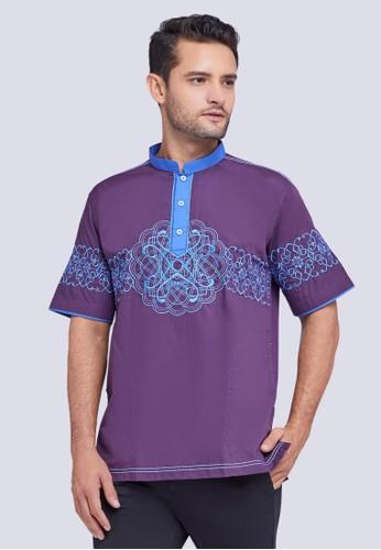 Woffi purple Quoz Koko Shirt 58AABAA4C1E169GS_1