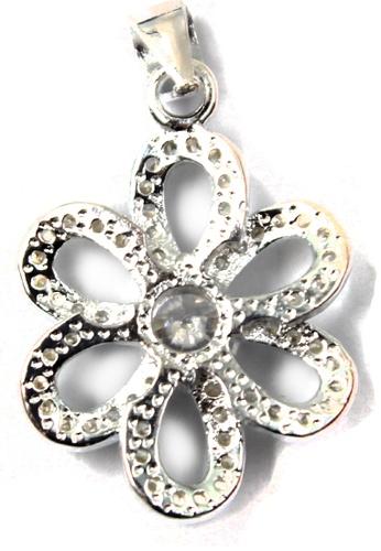 Venice Jewelry silver Crystallized Daisy Pendant VE564AC69ZEGPH_1