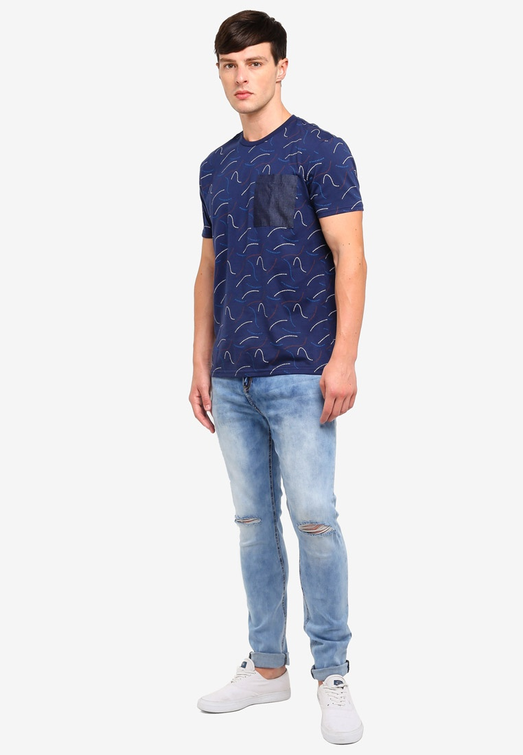 Blue Jeans Fit Penshoppe Skinny Light Ripped qfROH