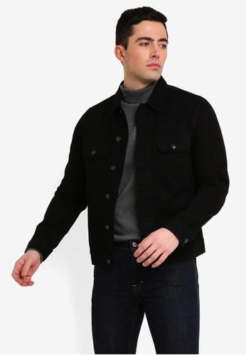 MANGO Man black Black Denim Jacket B1E15AAF6AEABEGS_1