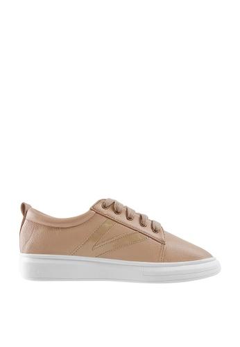 CO BLANC pink CO BLANC Side V-Stripe Sneakers 524A5SH28EB7F8GS_1