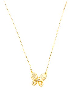 Butterfly Cubic Zircon Necklace