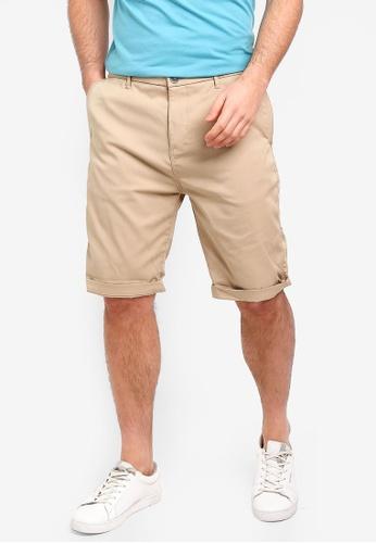 ESPRIT 米褐色 休閒短褲 F6001AAE0D6724GS_1