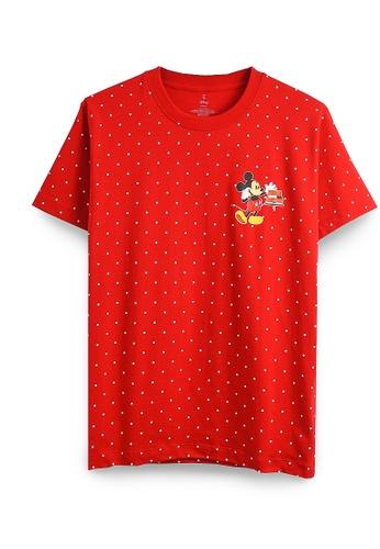 GOLDWOOD red DISNEY MICKEY CALL T-SHIRT - RED 7403FAAF773007GS_1
