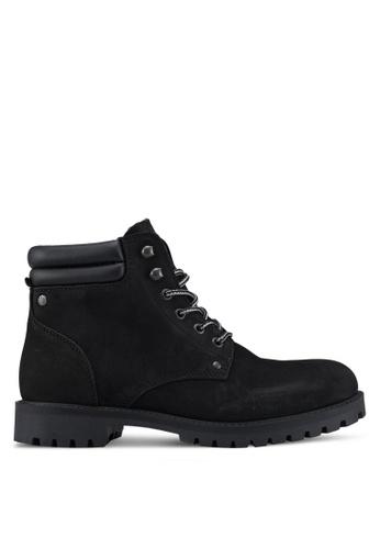 Jack & Jones black Stoke Nubuck Boots 26E15SH3354A2AGS_1