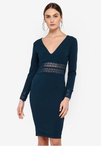 AX Paris blue Crochet Bodycon Dress 88E76AAEFB42F8GS_1