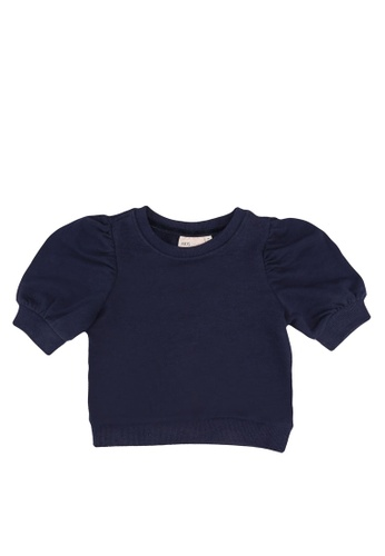 ONLY blue Puff-Sleeved Sweatshirt AABACKA207E1F4GS_1
