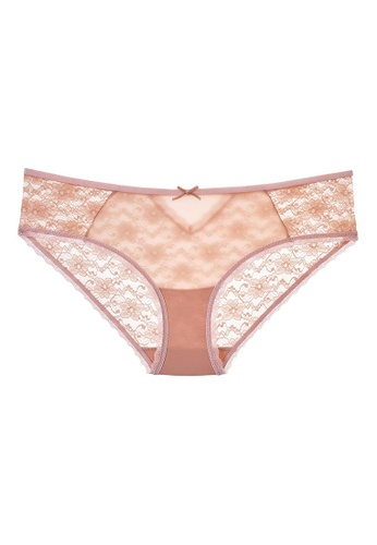 6IXTY8IGHT pink All-Over Lace Hipster Panty PT07990 E1600US6DD3882GS_1