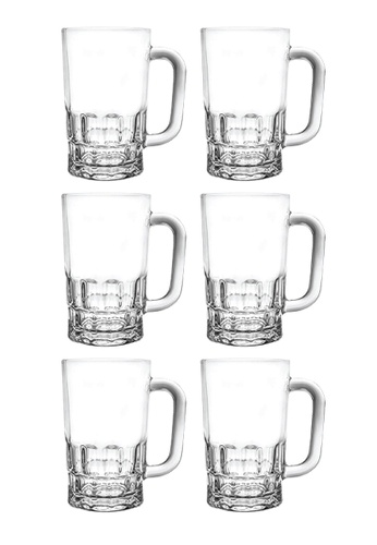 Union Glass n/a Thailand Premium Clear Glass Beer Mug Beer Lovers 385ml -13 oz Set of 6 07274HL2A49D2FGS_1