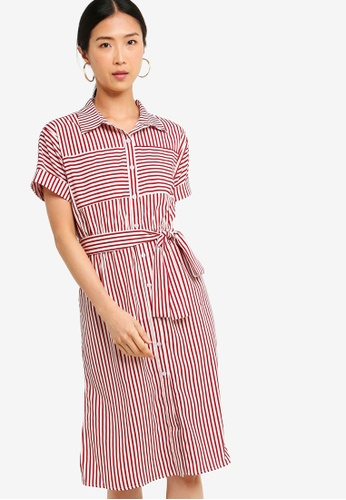ZALORA BASICS multi Basic Midi Shirt Dress 10CB0AA728E5A1GS_1