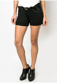 Adelle Satin Black Shorts