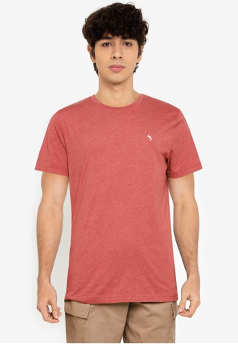 Abercrombie & Fitch red Casual Short Sleeve Tee 15689AACF1E896GS_1