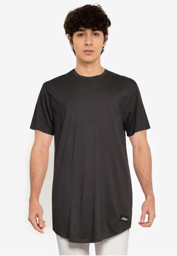Hollister black Thrift Longline Curved Hem T-Shirt 72FA5AAEB32B32GS_1
