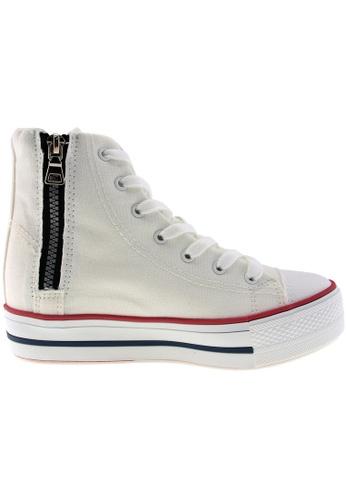 Maxstar white Maxstar Women's C7 7 Holes Lines Hidden Heel Platform Canvas Sneakers US Women Size MA164SH82PYVSG_1