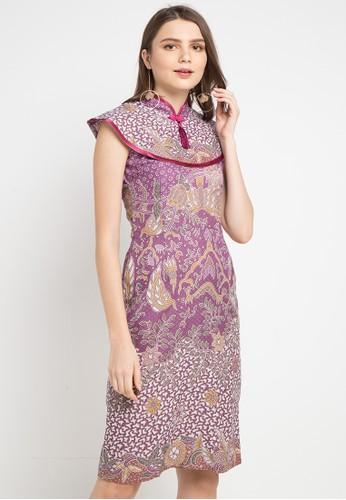 Batik Putra Bengawan purple and multi Dress Db P Oktari Leaf Vl Pb 684C7AAA45EE7AGS_1
