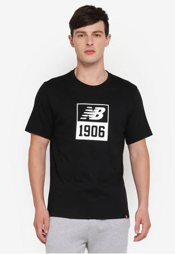 New Balance 黑色 休閒印花T恤 C42FAAA339E180GS_1