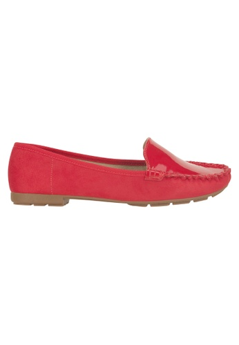Beira Rio red Solid Color Front Top Patent Moccasin BE995SH68ESXHK_1