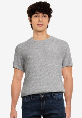 Hollister grey Crew T-Shirt AB2B1AA2183416GS_1