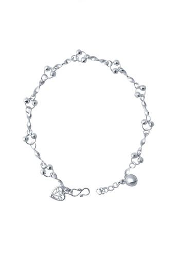 Elfi silver Elfi Genuine 925 Silver Twisty Chain Bracelet SB-10M EL186AC77GNMMY_1