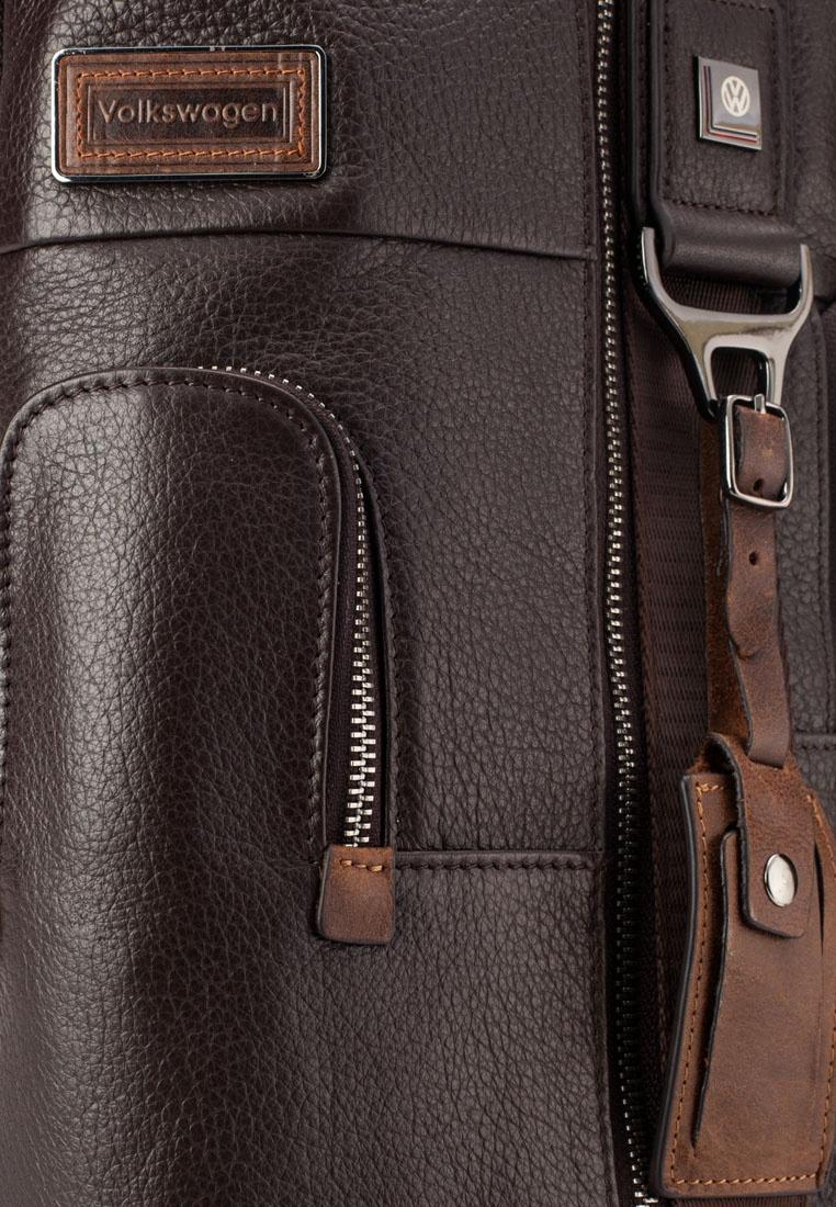 b360d9476350 Dark Bag Genuine Chest Volkswagen Friday Volkswagen Black Leather Brown  aXxnwST ...