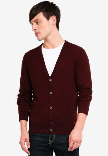 Burton Menswear London 紅色 經典罩衫 1DF05AABF2EF50GS_1