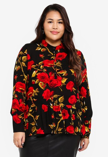 Only CARMAKOMA black Plus Size Schori Shirt 8488EAAC0B8E06GS_1