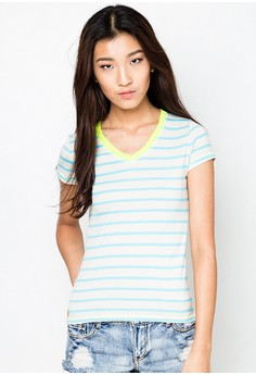 Stripes V-Neck Tee