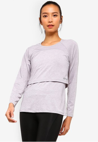 AVIVA grey Long Sleeve Top 56A52AAB9BCDF3GS_1