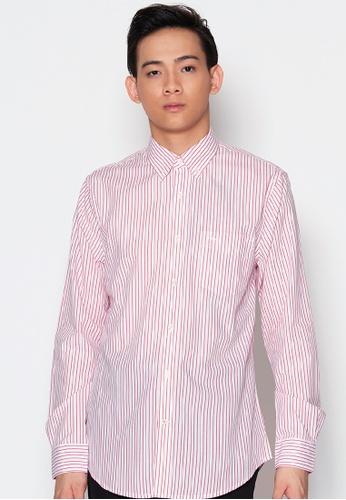 Dockers red Dockers Soft No Wrinkle Long Sleeve Shirt Ferris 1 Stripe Samba EFBABAADE3EC9EGS_1