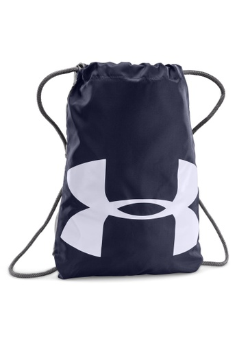 50ed4a1dcd Under Armour grey and navy UA Ozsee Sackpack UN337AC11ANOMY 1