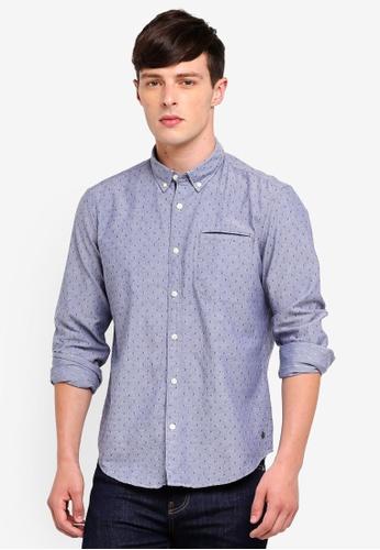 ESPRIT 藍色 長袖襯衫 51CE2AA8DA5165GS_1