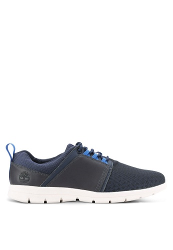 Timberland navy Graydon Fabric and Leather Low Shoes TI063SH0RIF7MY_1
