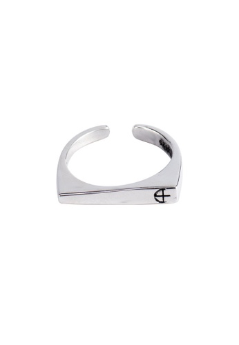 A-Excellence silver Premium S925 Sliver Geometric Ring 5ADF4AC717B378GS_1