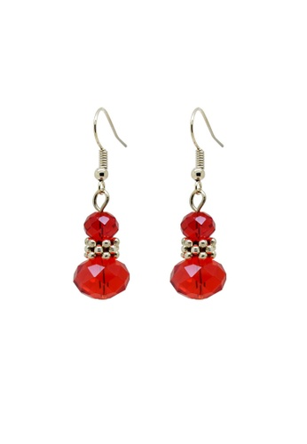 Fur Nyce red Red Stylish Faceted Beads Drop Earrings FU779AC12PJFMY_1