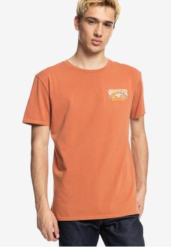 Quiksilver brown Baja Road T-Shirt 12660AAD79C797GS_1