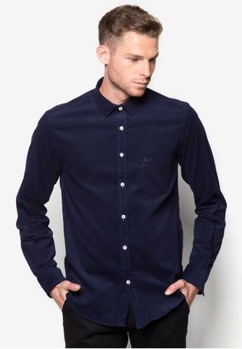 esprit暢貨中心簡約棉質長袖襯衫, 服飾, 襯衫