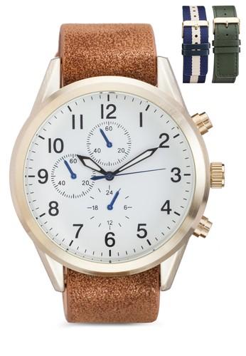 Pescoesprit 童裝 數字顯示圓框手錶, 錶類, 男裝手錶