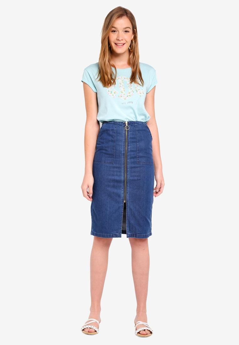 ESPRIT Blue Denim Skirt Denim Mini Skirt Mini ESPRIT a6U6xdq