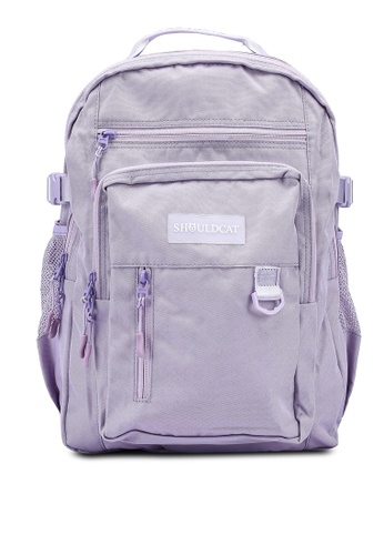 Bagstationz purple Multi-Compartment Large Backpack AFEF6AC4552B63GS_1