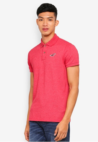 Hollister red Core Exploded Icon Solid Polo Shirt 28F47AA06876F3GS_1
