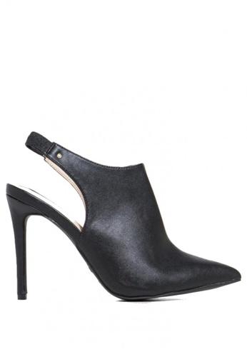Berca Shoe Store black Charlotte Sling Back on Point Bootie 69E8ESH5CC4942GS_1