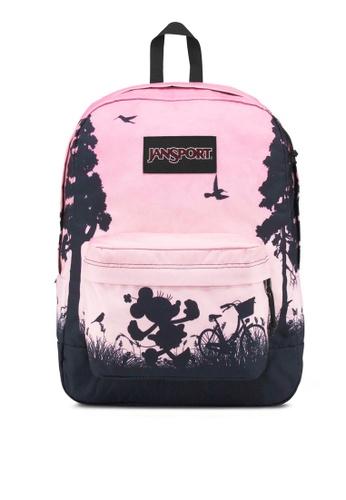 JanSport pink Disney High Stakes Backpack JA216AC0S5JJMY_1
