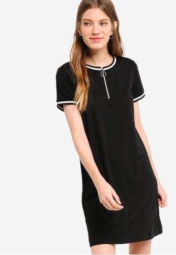 Something Borrowed black Contrast Rib Tee Dress DC4CCAA3EEF076GS_1