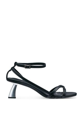 nose 黑色 Sculpture Strappy Sandal Heels 3C25ESHA878C0FGS_1