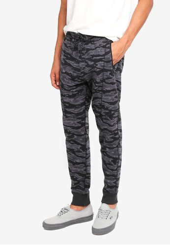Abercrombie & Fitch black and grey Side Seam Sweatpants 7A0B5AA8BDE823GS_1