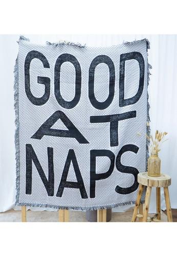 Milliot & Co. black Good At Naps Blanket 394DDHL1F13CDFGS_1