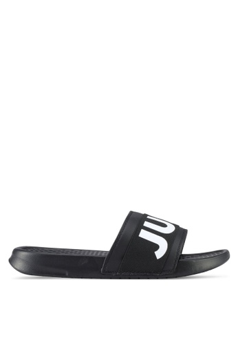 Just Hype black and white Sporting Sliders AFE4FSH438E27AGS_1